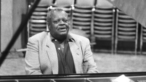 Oscar Peterson plays piano, Feb 12, 1986.The Canadian Press Images/Bill Becker