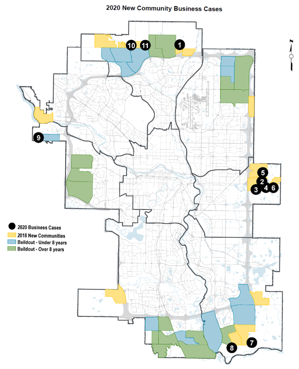 City of Calgary, 2020 New Community Business Cases