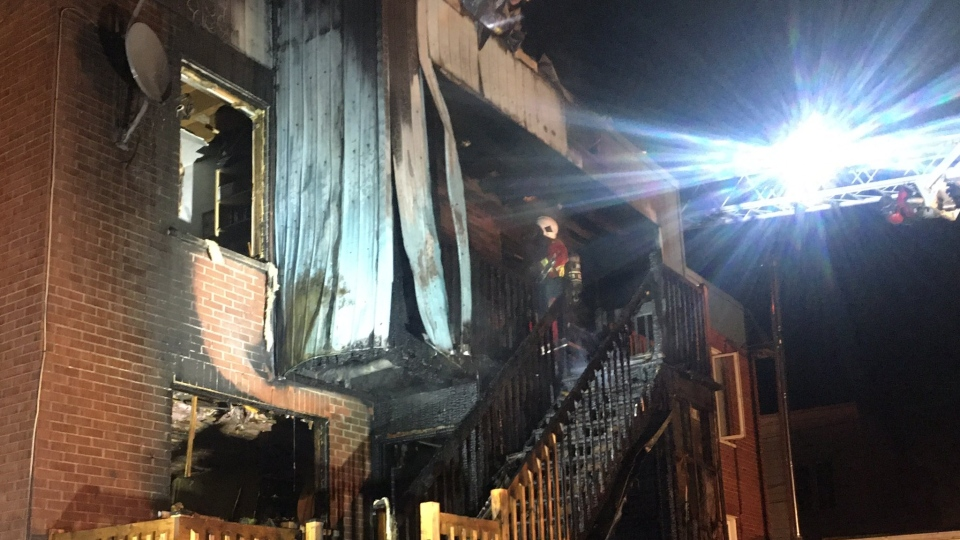 QC firefighters put out blaze