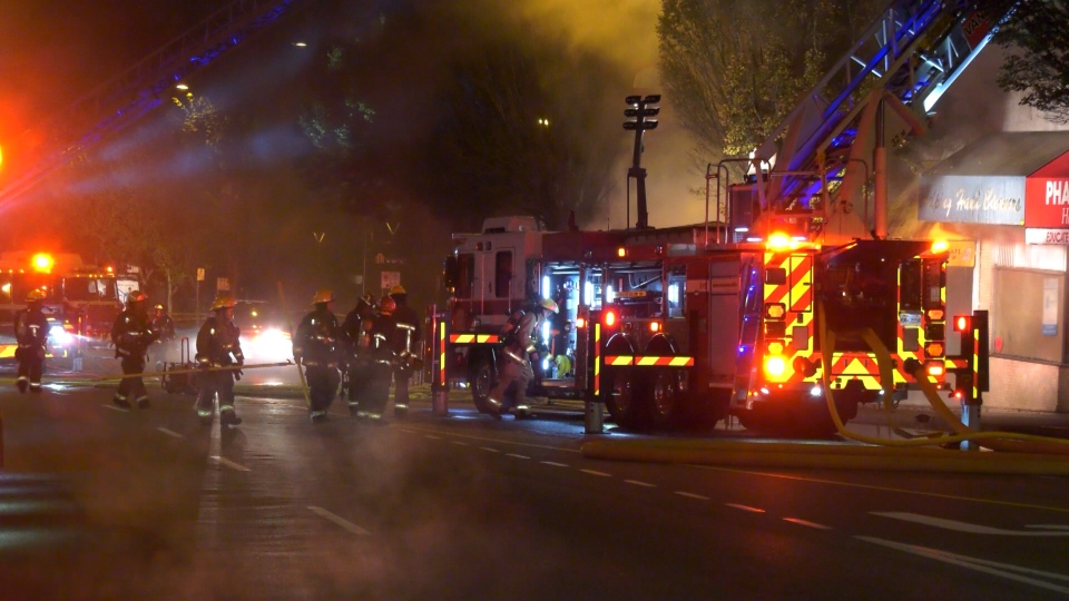 Cambie Street fire