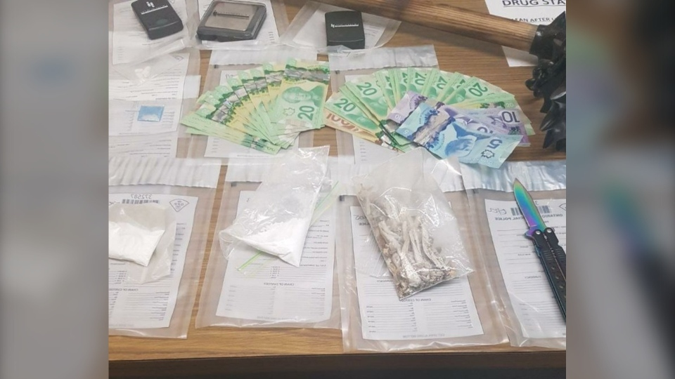 Seizure of drugs, weapons and cash in White River