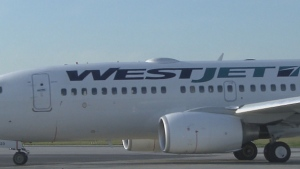 WestJet is notifying guests on six recent flights at Calgary International Airport about possible contact with active cases of COVID-19. (File)