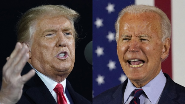 Trump and Biden combo picture
