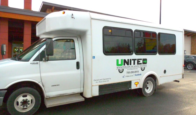A local transit service is up and running on Manitoulin and it has some ambitious plans for the future. They're currently offering the service for free as part of a pilot project with Ontario's Ministry of Transportation. (Ian Campbell/CTV News)