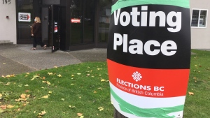 A polling station in Victoria on Oct. 15, 2020. (CTV News)
