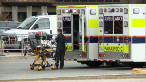 """The Ottawa Paramedic Service Annual Report says hospital offload delays create periods where all of the city's ambulances are either on calls or waiting at a hospital to transfer patient care, leaving the service at """"level zero"""" with no ambulances available."""