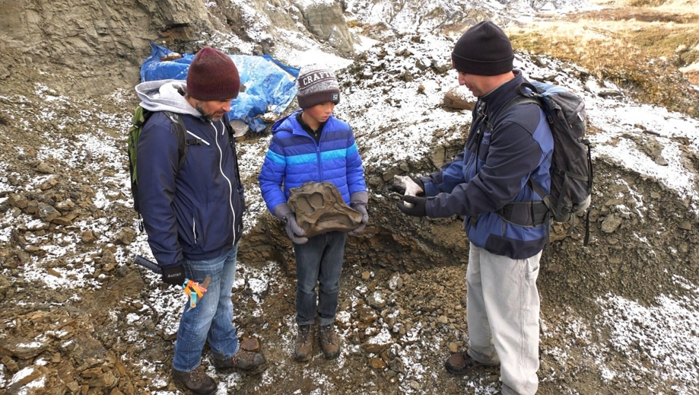 Conservation group hails rare dinosaur discovery by father and son in Alberta