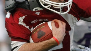 Five members of the University of Ottawa football team have tested positive for COVID-19. (File photo: Pawel Dwulit/The Canadian Press)