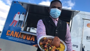 The CANAVUA Community Food Truck. (Matt Marshall/CTV News Edmonton)