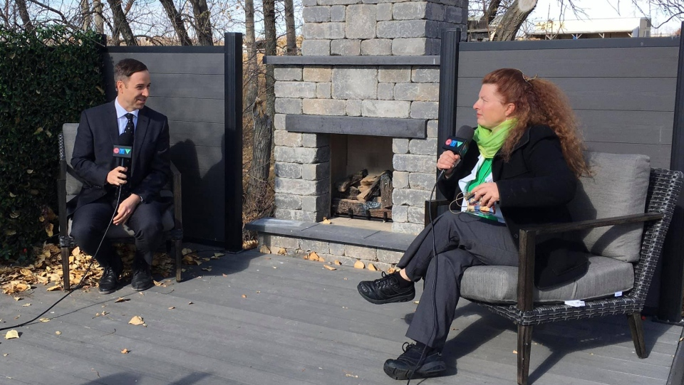 CTV News Regina Anchor Lee Jones sits down with Saskatchewan Green Party Leader Naomi Hunter ahead of the 2020 Saskatchewan Provincial Election. (Nelson Bird/CTV News Regina)