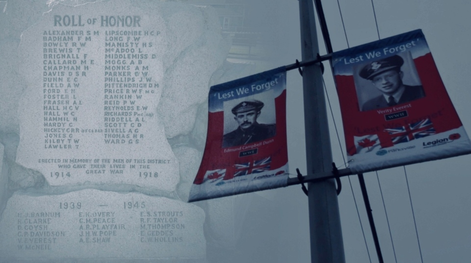 The City of Parksville is creating banners with photographs of First and Second World War veterans and hanging them across the region this year: (CTV News)