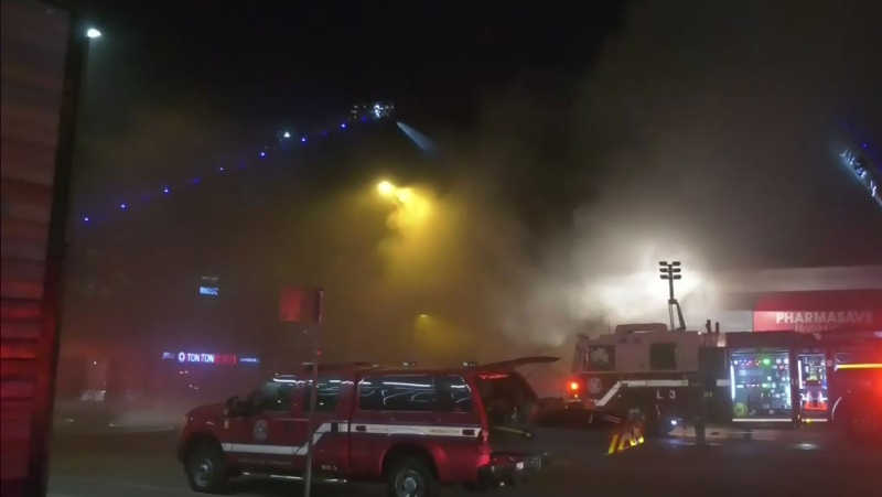 Major damage from Cambie fire
