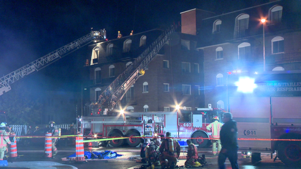 Suspicious fire in Montreal leaves three injured