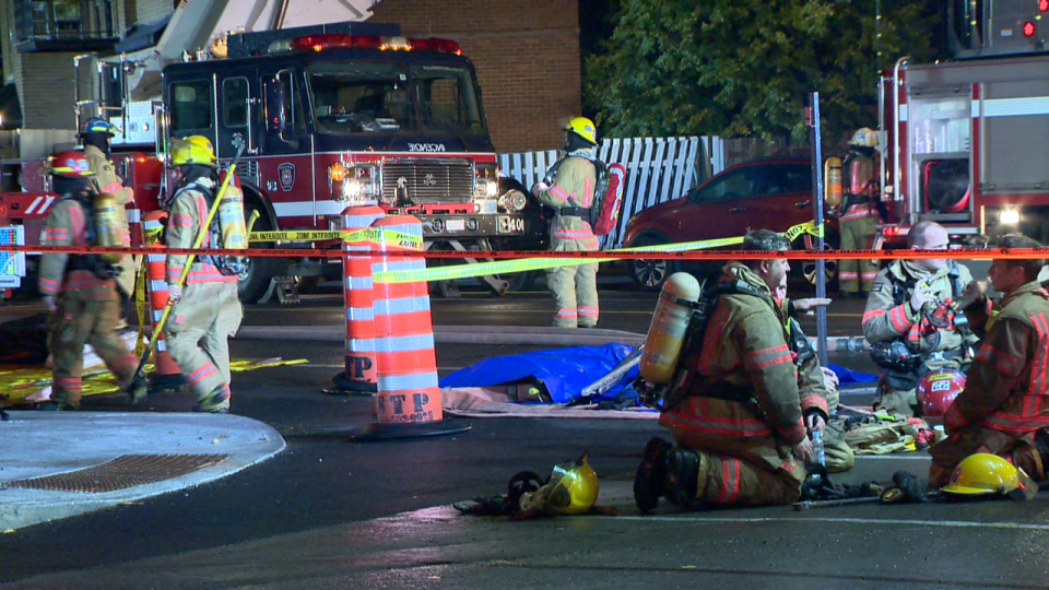 Montreal firefighters put out blaze