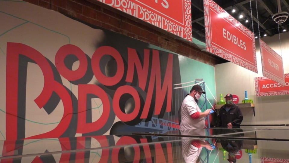 Boondom cannabis store in Windsor, Ont., on Thursday, Oct. 16, 2020. (Chris Campbell / CTV Windsor)