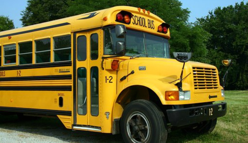 The Timmins Police Service is warning drivers to stop for school buses picking up or dropping off students, or face the consequences. (Supplied)