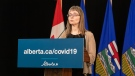 Alberta's chief medical officer of health Dr. Deena Hinshaw provided an update, from Edmonton on June 17, 2020, on COVID-19 and the ongoing work to protect public health. (photography by Chris Schwarz/Government of Alberta)