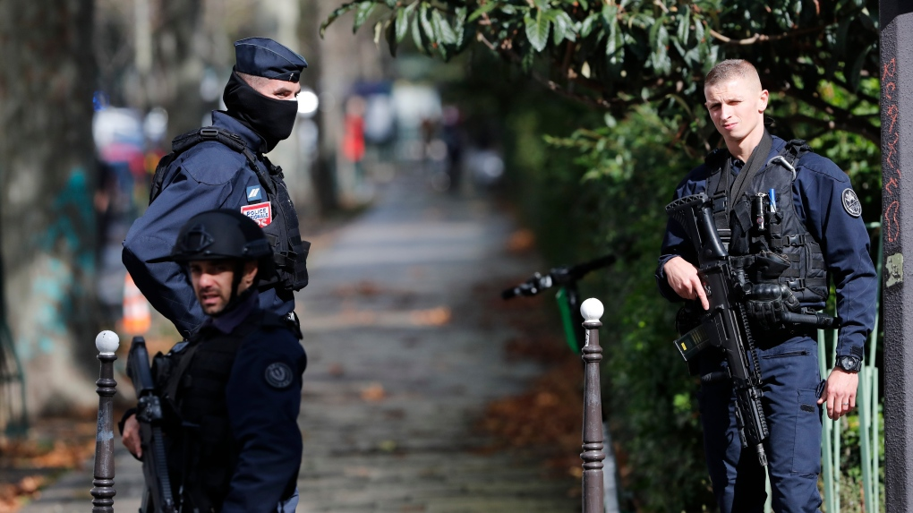 Man stabbed in the throat in Paris suburb, suspect shot by police