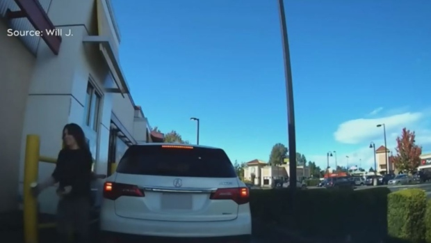 Caught on cam: Woman throws hot coffee at Nanaimo McDonald's employee  image
