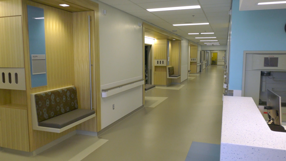 A look inside the new Donald B. Green Tower at the Brockville General Hospital. (Nate Vandermeer/CTV News Ottawa)
