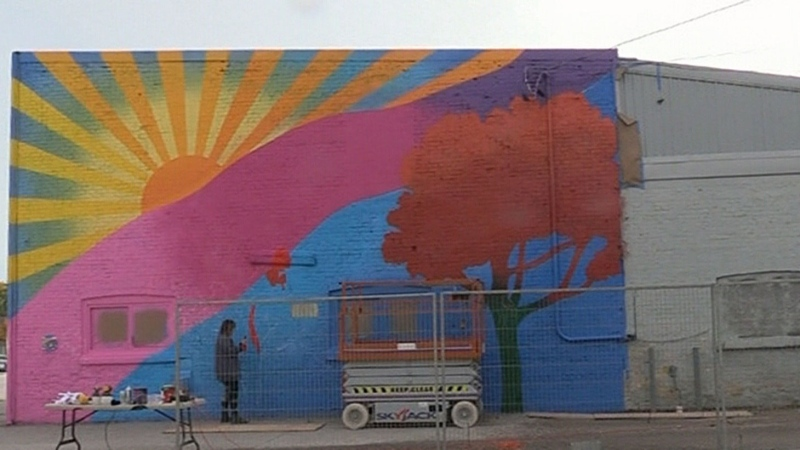 Super-size mural going up in small-town Seaforth