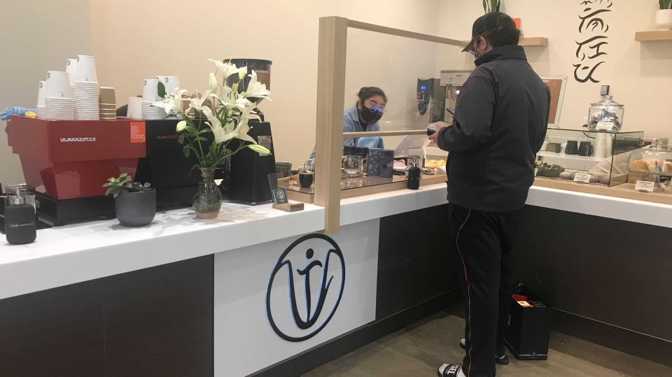 Intent Coffee, located at Southgate Centre, offers locally baked goods and coffee farmed by Indigenous women in the Philippines. Oct. 16, 2020. (CTV News Edmonton)