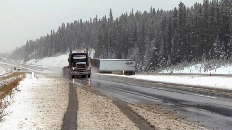 Snow arrives in southern Alberta