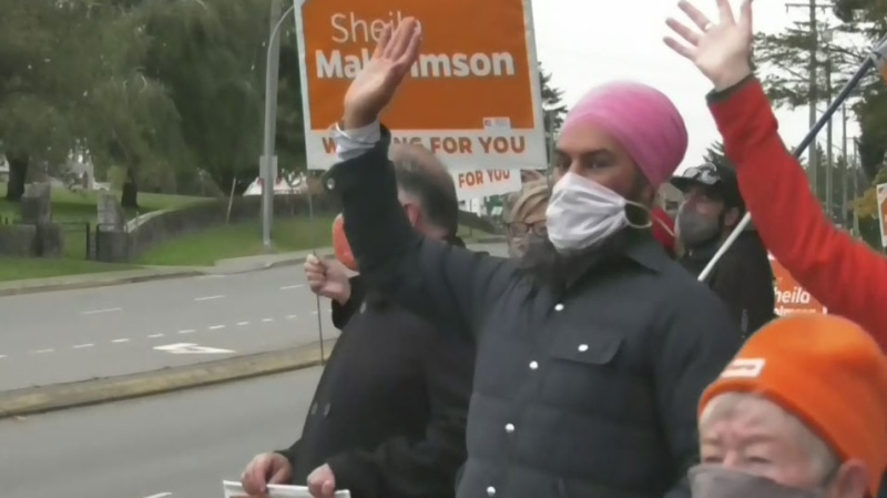 Jagmeet Singh visits island to support BC NDP