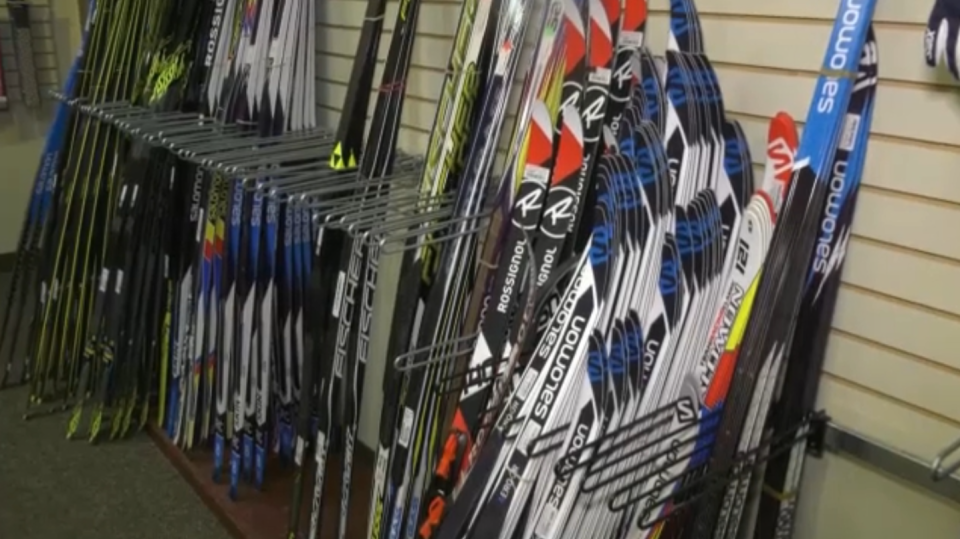 Edmonton ski shops are having a hard time keeping winter sports equipment in stock.