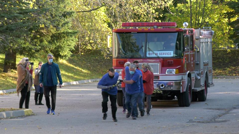 Brockville fire truck pull