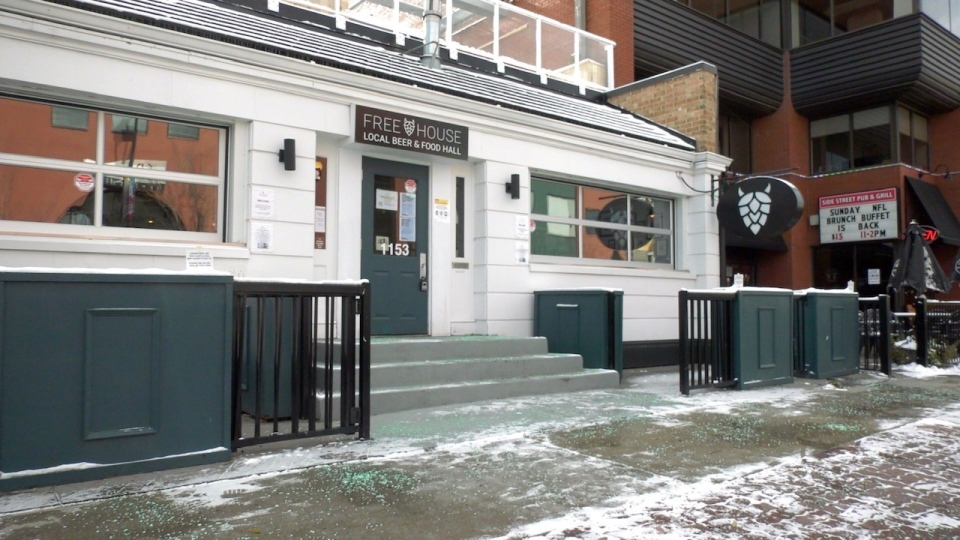 The patio is now removed from the front entrance to Freehouse off Kensington Crescent. Managers hope to keep its indoor space busy during the winter.