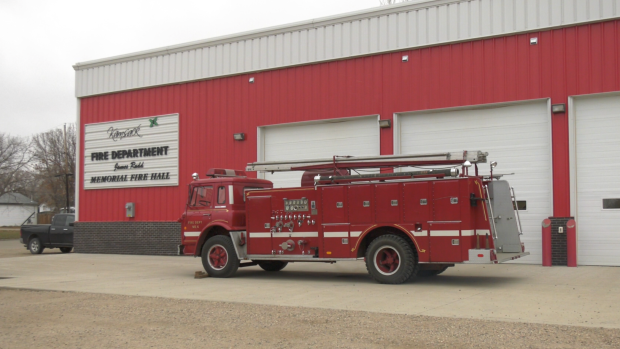A firetruck was donated to Ocean Man First Nation on Oct. 17, 2020.