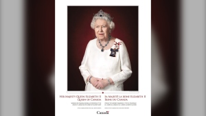 Queen Elizabeth II has been honoured by the Canadian government with a new official portrait. (Government of Canada/Chris Jackson)
