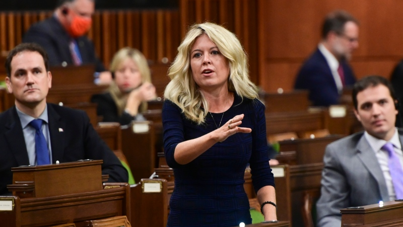 Conservative member of Parliament Michelle Rempel Garner rises during question period in the House of Commons on Parliament Hill in Ottawa on Friday, Oct. 2, 2020. THE CANADIAN PRESS/Sean Kilpatrick
