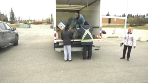 A bottle drive was held to support the Royal Canadian Legion in St. Albert.