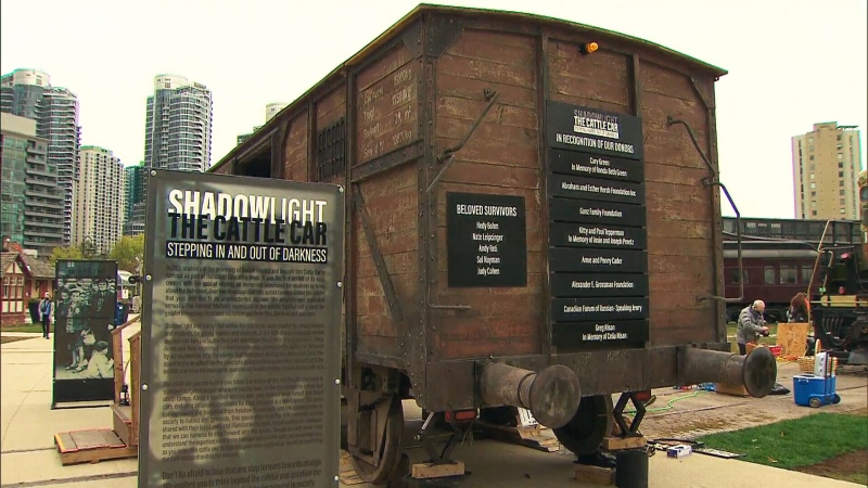Replica Holocaust railcar