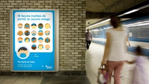 STM launches  'There's only one right way to wear face coverings' campaign / Photo courtesy of the STM