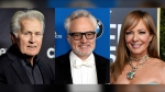 """This combination photo shows the cast of the award-winning White House television drama. """"The West Wing"""", from left, Martin Sheen, Bradley Whitford and Allison Janney who will take part in a book project called """"What's Next: A Citizen's Guide to The West Wing,"""" organized by actors Melissa Fitzgerald and Mary McCormack, (AP Photo)"""