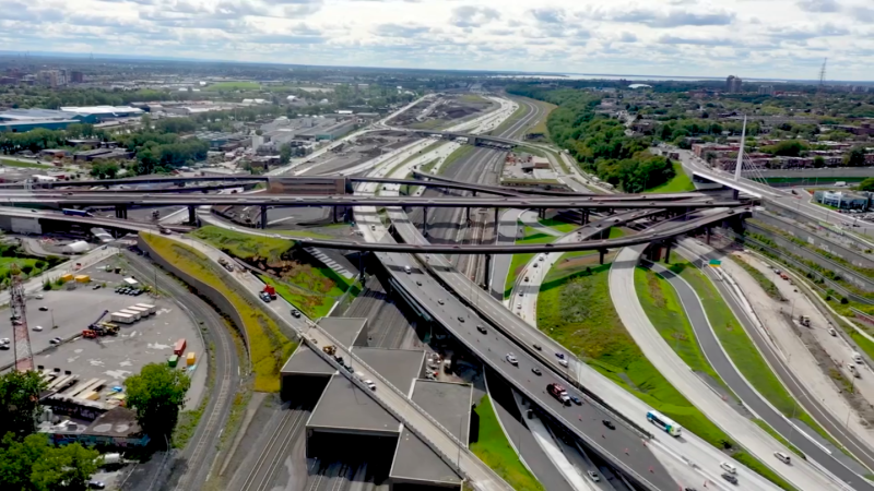 The rebuilt Turcot Interchange (Photo: Government of Quebec/Facebook)