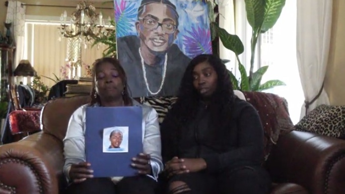 The family of Jerome Allen appear in a video about the case. (Courtesy Windsor police)