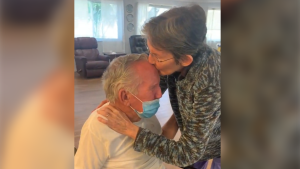 A couple married for more than 60 years were reunited in Florida after being separated for 215 days during the pandemic.
