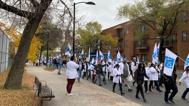 FIQ nurses protested on Monday, Oct. 19, 2020. (Photo/CTV News)