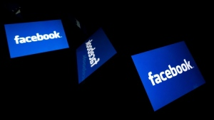 The Facebook logo is seen in this file photo. (AFP)