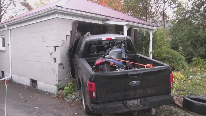 Pickup crashes into home in northeast London