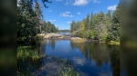 The Black River flowing out of Black Lake in Nopiming Provincial Park in September 2020. (CTV News Photo Josh Crabb)