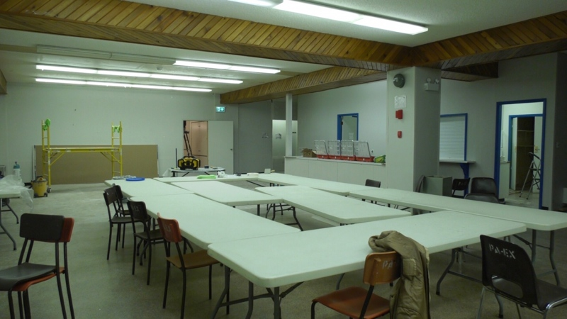 Several Prince Albert groups have built a temporary cold weather homeless shelter in response to the COVID-19 pandemic. (Jayda Taylor/CTV Prince Albert)
