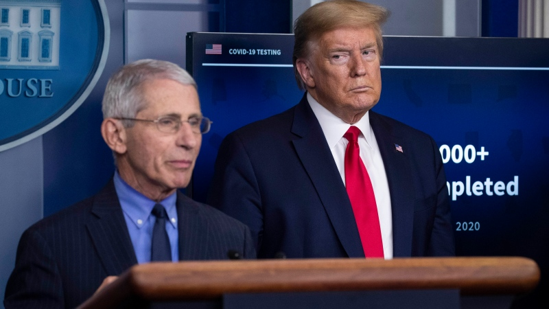 Trump blames Fauci for poor handling of pandemic in U.S.