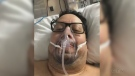 Rene Segura, 41, of Barrie, Ont., was on life support in hospital after being diagnosed with COVID-19 in March 2020. (Supplied)
