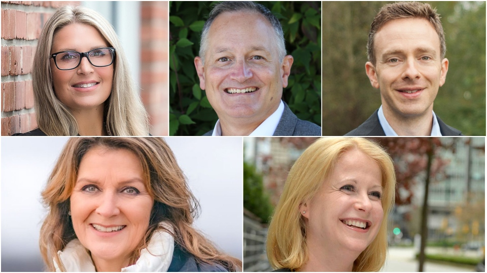 Candidates Chelsa Meadus, Bob D'Eith, Matt Trenholm, Cheryl Ashlie and Lisa Beare are pictured.