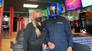Jackie Graham and David Mah have started a disinfecting business called UV CLEAN. (Carla Shynkaruk/CTV Saskatoon)